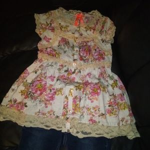 Girls matching outfit size 10 justice shorts